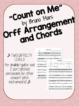 Count on Me - Pop Music Arrangement - Orff Percssion, Guitar/Ukulele