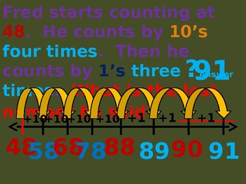 Count on a open number line