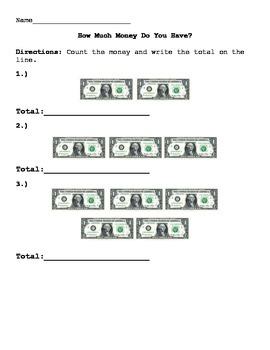 Money- Count the $1.00 Bills