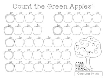 Count the Apples (Counting by 5s & 10s)