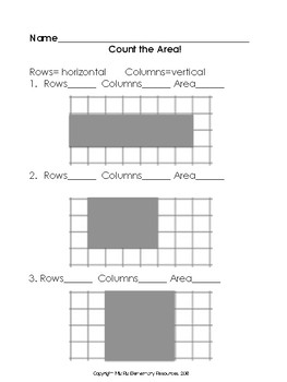 Count the Area {2nd Grade Geometry!}