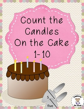 Math-Counting - Count the Candles on the Cake 1-10