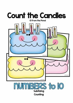 Count the Candles - Math Center Game for Counting