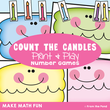 1:1 Correspondence Counting Game Count the Candles