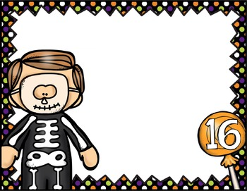 FREE Halloween Counting Math Center
