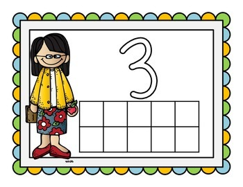 Count the Community Helpers, Various Math Act. to Reinforce 1:1 Correspondence