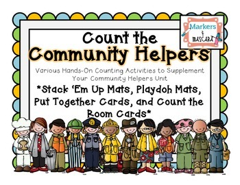 Count the Community Helpers, Various Math Act. to Reinforc