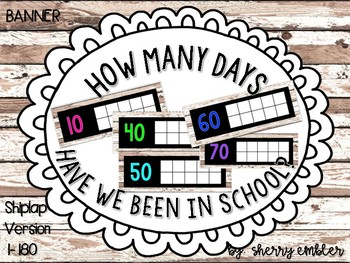 Count the Days Calendar Shiplap Posters