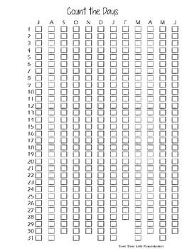 Count the Days - Homeschool Attendance Log