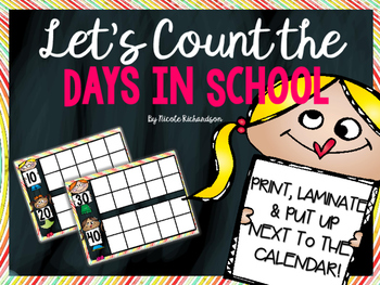Count the Days~Rainbow Chalkboard Theme