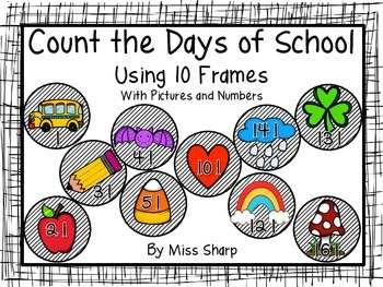 Count the Days of School - Pictures and Numbers