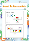 Count the Domino Dots (Visual Perception Worksheets)