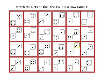 Count the Dots on the Dice-Four in a Row Game E