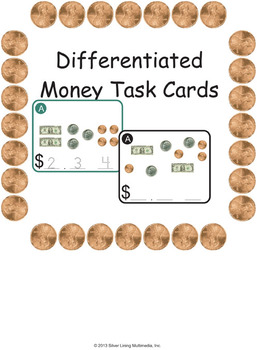 Count the Money Task Cards - Differentiated