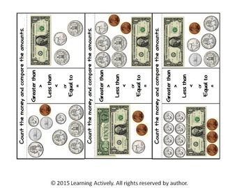 Count the Money...and Compare: An Interactive Notebook Activity