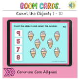 Count the Objects 1 to 10 BOOM LEARNING CARDS Activity