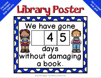 Count the Number Of Days without a Damaged Book {Library Poster}