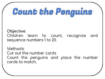 Count the Penguins Numbers 1 to 20