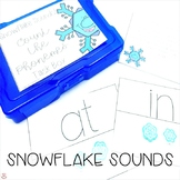 Mini Erasers Count the Phonemes Task Box Snowflake Sounds