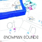 Mini Erasers Count the Phonemes! Task Box Snowman Sounds
