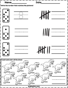 count the quantity dinosaur math worksheets by prekautism. Black Bedroom Furniture Sets. Home Design Ideas