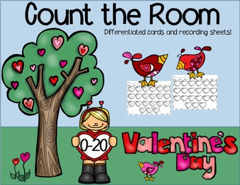 Count the Room (0-20) Valentine's Day