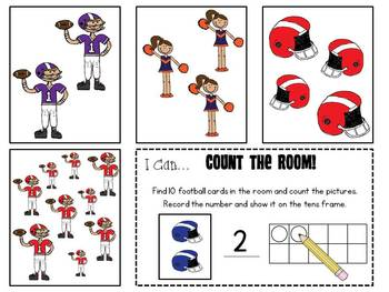 Count the Room 1-10 {Football Theme}