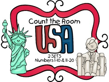 Count the Room - American Symbols {K.CC.A.3 & K.NBT.A.1}
