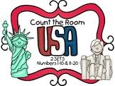 Count the Room - American Symbols {K.CC.A.3 & K.NBT.A.1}