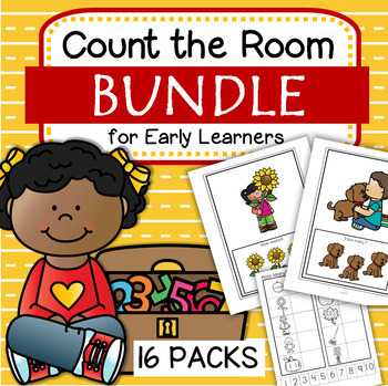 Count the Room Bundle - 16 Differentiated Centers for Preschool and Pre-K