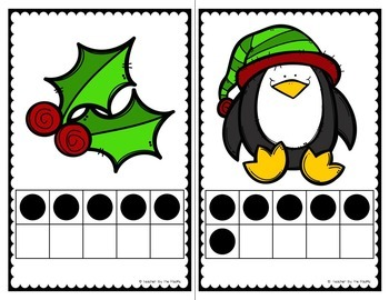 CHRISTMAS Math – Count the Room – Ten Frames and Numbers 1 - 10