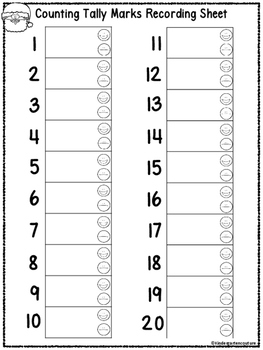 Count the Room Candy Cane Tally Marks 1-20 QR Code Ready