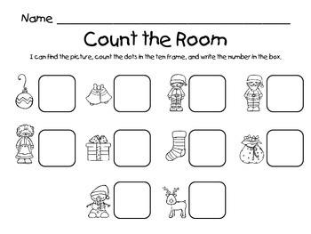 Count the Room - Christmas {K.CC.A.3 & K.NBT.A.1}