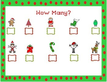 Count the Room * Christmas * Numbers 1-10