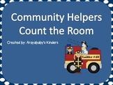 Count the Room- Community Helpers (Kindergarten Math)
