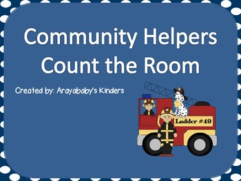 Count the Room- Community Helpers (Kindergarten Math)