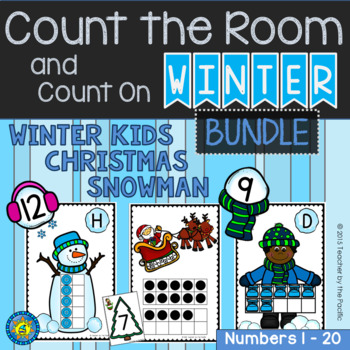 Count the Room + Count On – SNOWMAN - CHRISTMAS – WINTER K