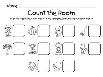 Count the Room - Fall / Autumn {K.CC.A.3 & K.NBT.A.1}
