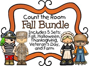 Count the Room - Fall BUNDLE {K.CC.A.3 & K.NBT.A.1}