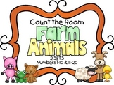 Count the Room - Farm Theme {K.CC.A.3 & K.NBT.A.1}