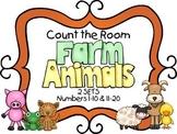 Count the Room - Farm Theme {K.CC.A.3 & K.NBT.A.1}