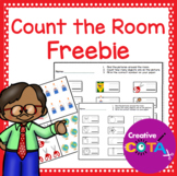 School Number Identification and Formation Count the Room Freebie