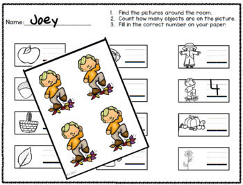 Number Identification and Writing: Count the Room Bundle