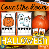 HALLOWEEN Math - Count the Room – Ten Frames and Numbers 1 - 10