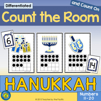 HANUKKAH Math - Count the Room - Ten Frames and Numbers 11 - 20