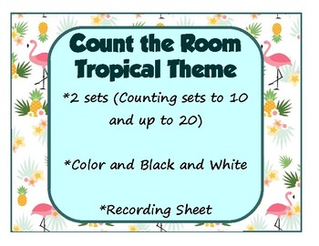 Count the Room Math Around the Room Tropical Theme