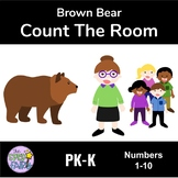 Count the Room Numbers 1-10 - Brown Bear