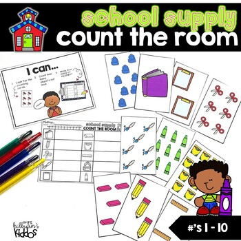 Count the Room Numbers 1-10 | School Theme |