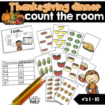 Count the Room Numbers 1-10 | Thanksgiving Dinner Theme |