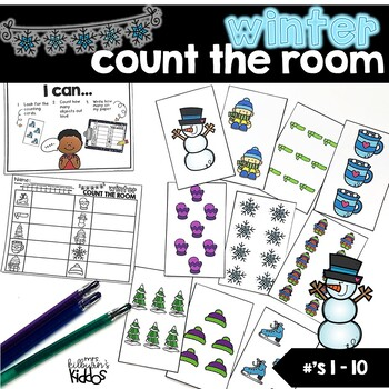 Count the Room Numbers 1-10 | Winter Theme |